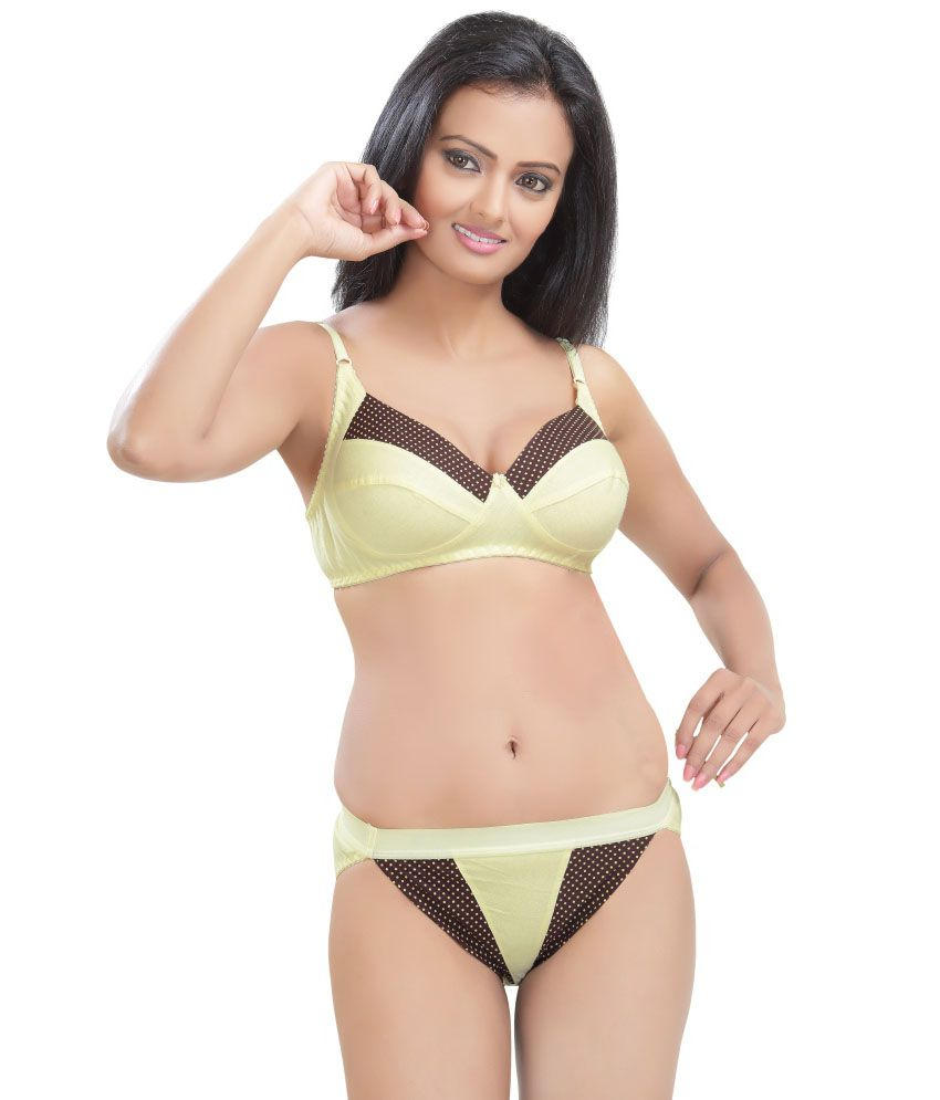 845a56e2172e Buy Sunny Yellow Bra & Panty Sets Online at Best Prices in India - Snapdeal