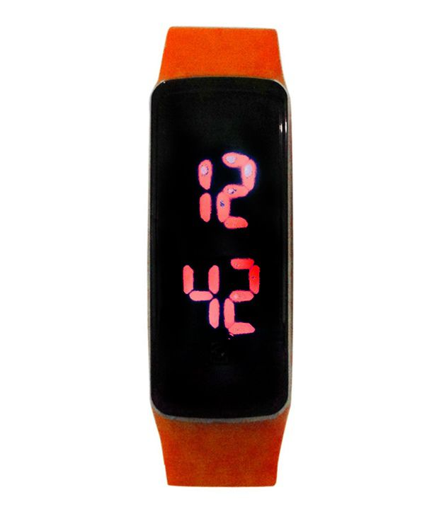 Vencer Stella Red Rectangular Digital Watch
