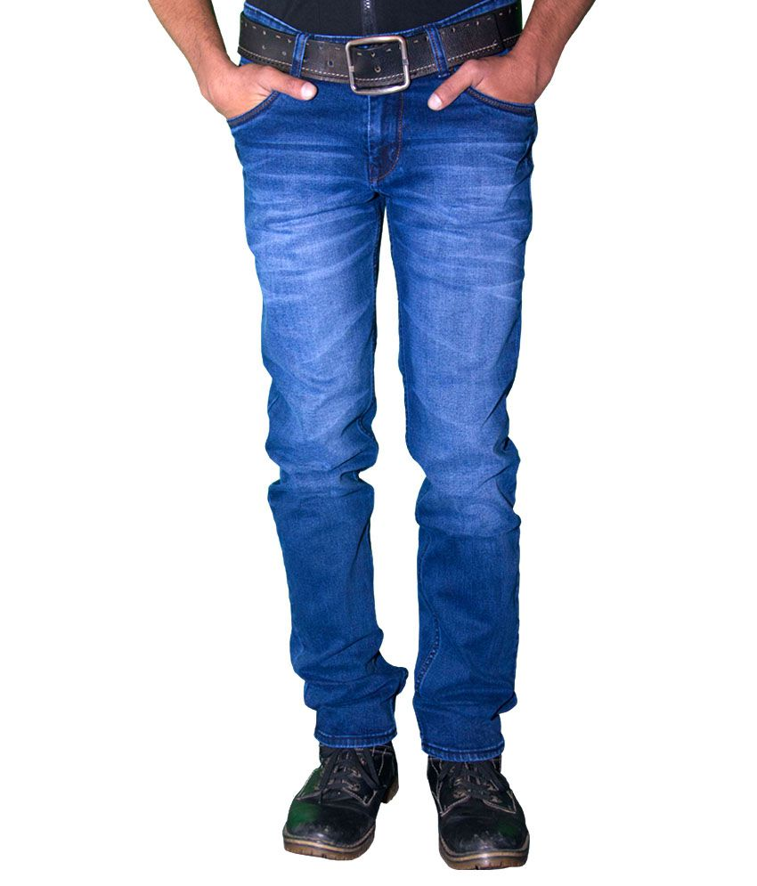 Forma Blue Cotton Slim Fit Jeans