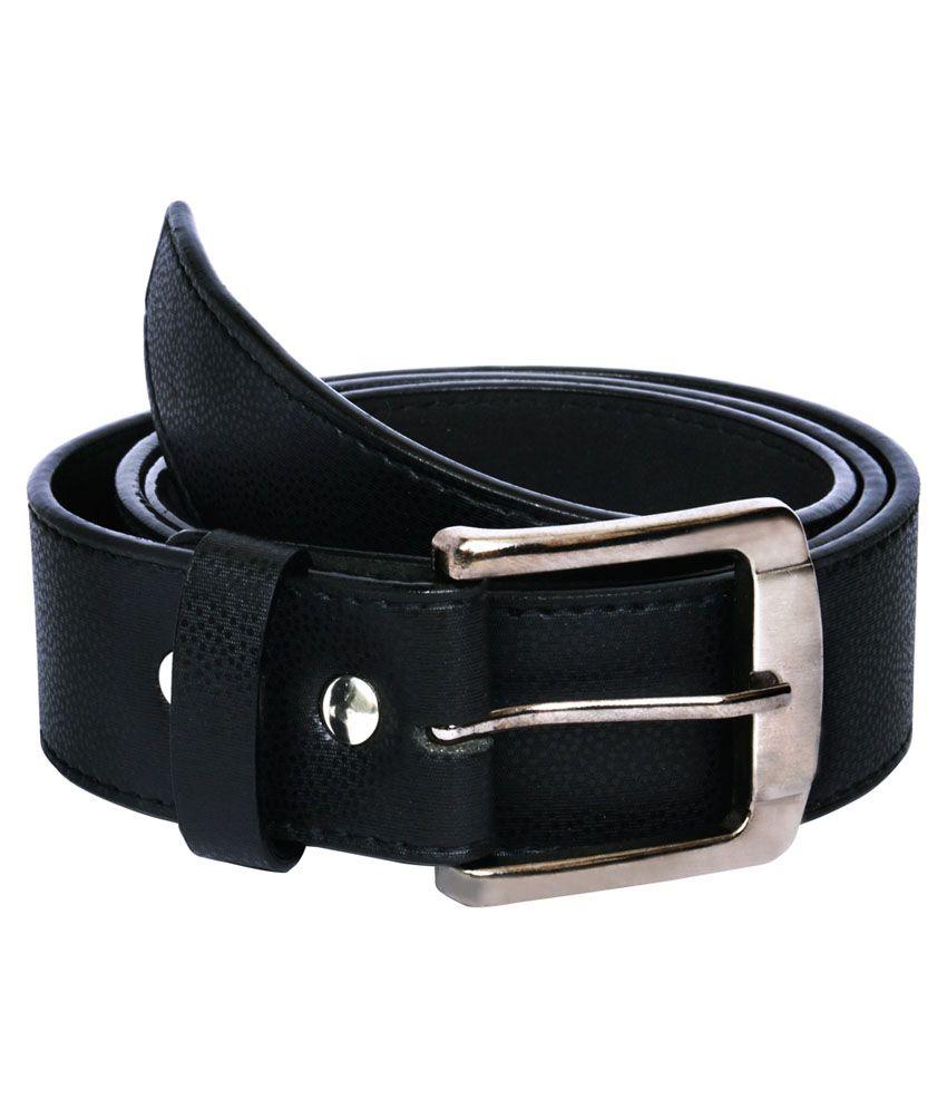 The BrandStand Black Non Leather Belt for Men