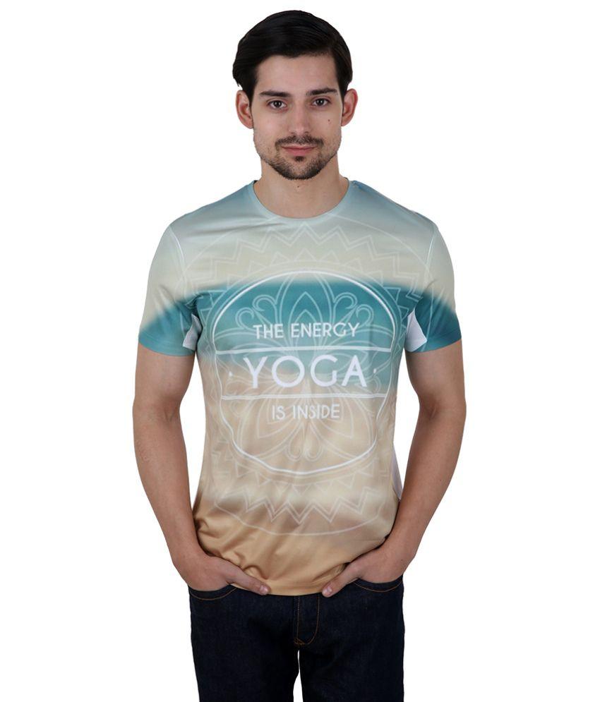 Freecultr Express Beige Poly Blend T-shirt