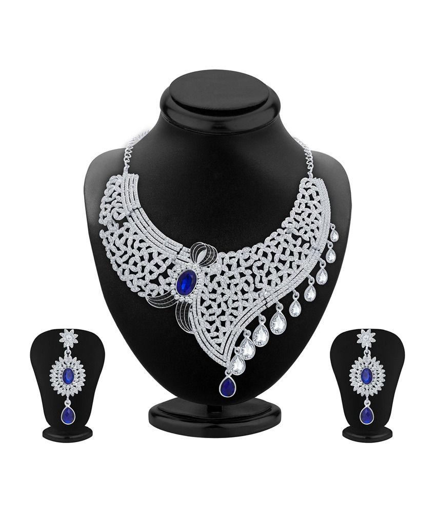 Sukkhi Lavish Rhodium Plated Necklace Set for Women