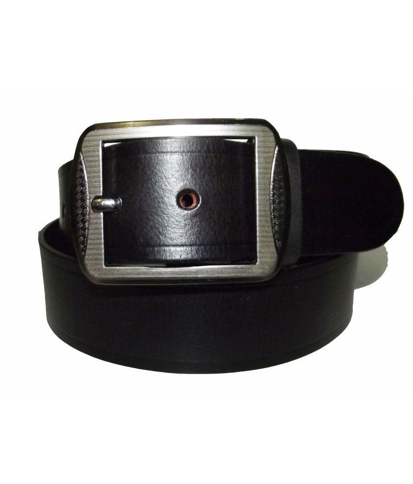 Crazeewear Black Formal Belt For Men