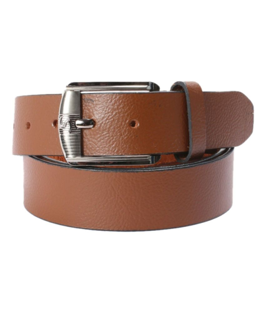 Crazeewear Brown Formal Belt For Men