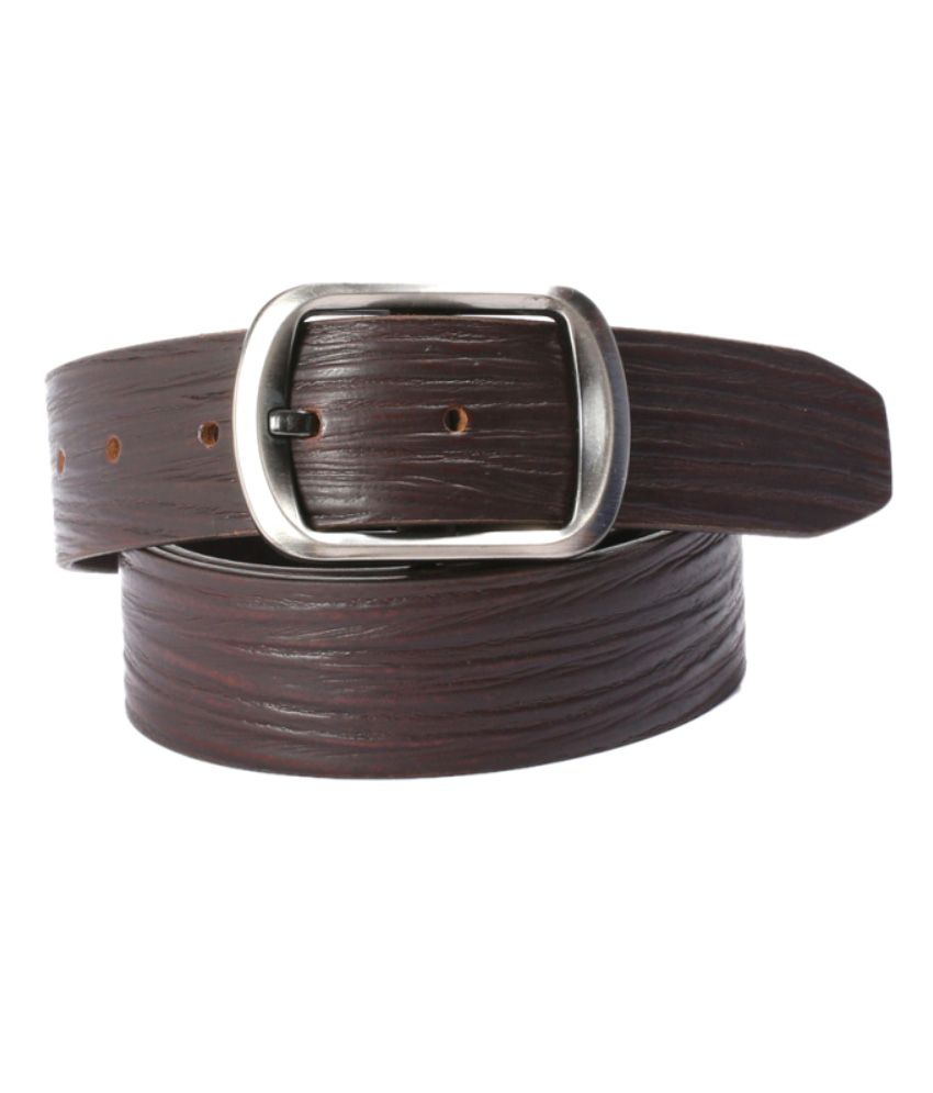 Crazeewear Brown Formal Belt For Men
