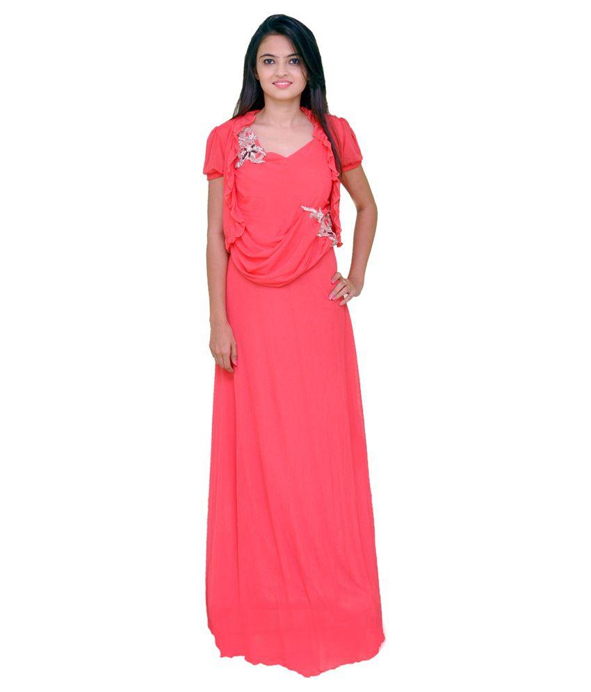 Rangeela Fashion Pink Net Gowns