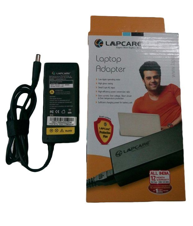 Lapcare Laptop Adapter For Hp Pavilion Dv5-1009tx With Actone Power Cord - Black