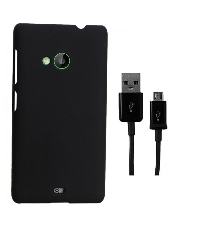 coverage back cover data cable for microsoft lumia 540 black buy coverage back cover data. Black Bedroom Furniture Sets. Home Design Ideas