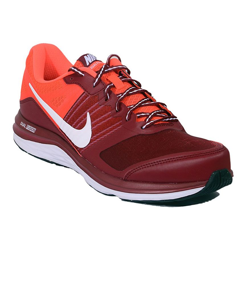 28f640960ab2 Nike Dual Fusion X MSL TM RED WHT Men Sports Shoes - Buy Nike Dual Fusion X  MSL TM RED WHT Men Sports Shoes Online at Best Prices in India on Snapdeal