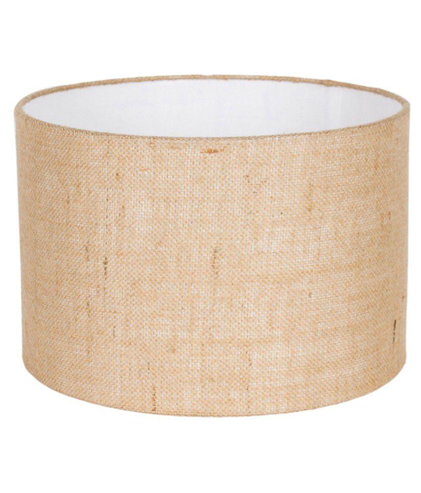 Orange Tree Beige Fabric Straight Drum Lamp Shade