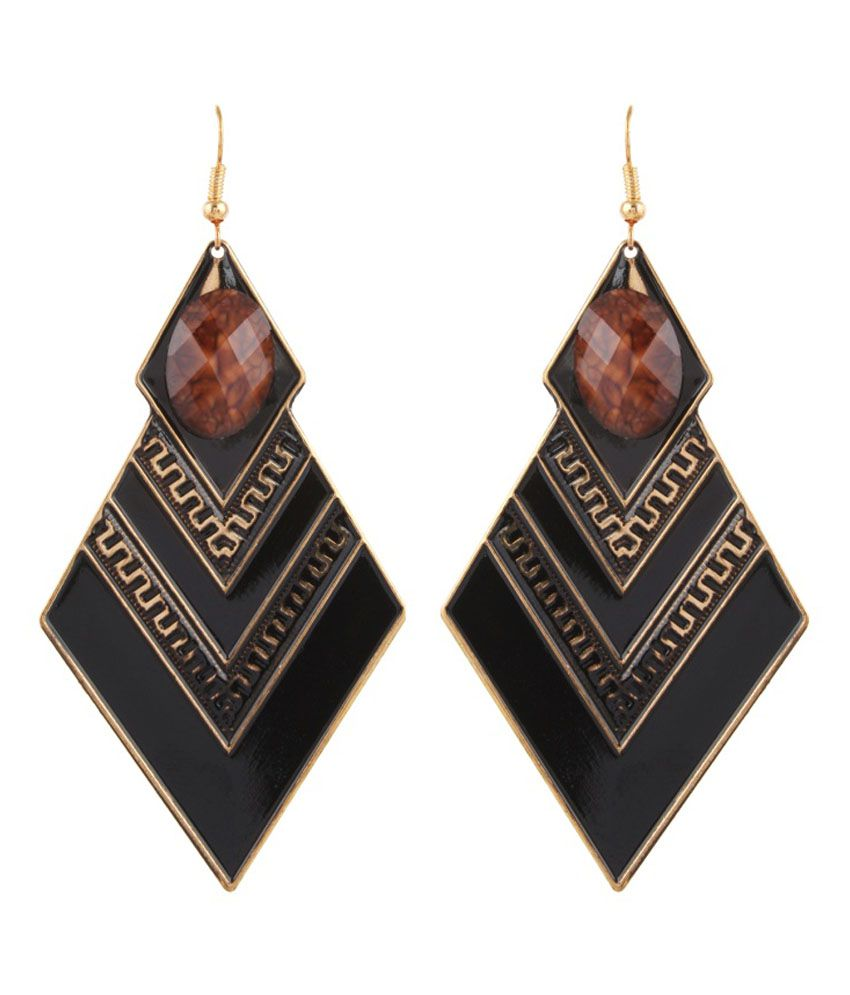 Gracent Brown Alloy Daily Wear Earring