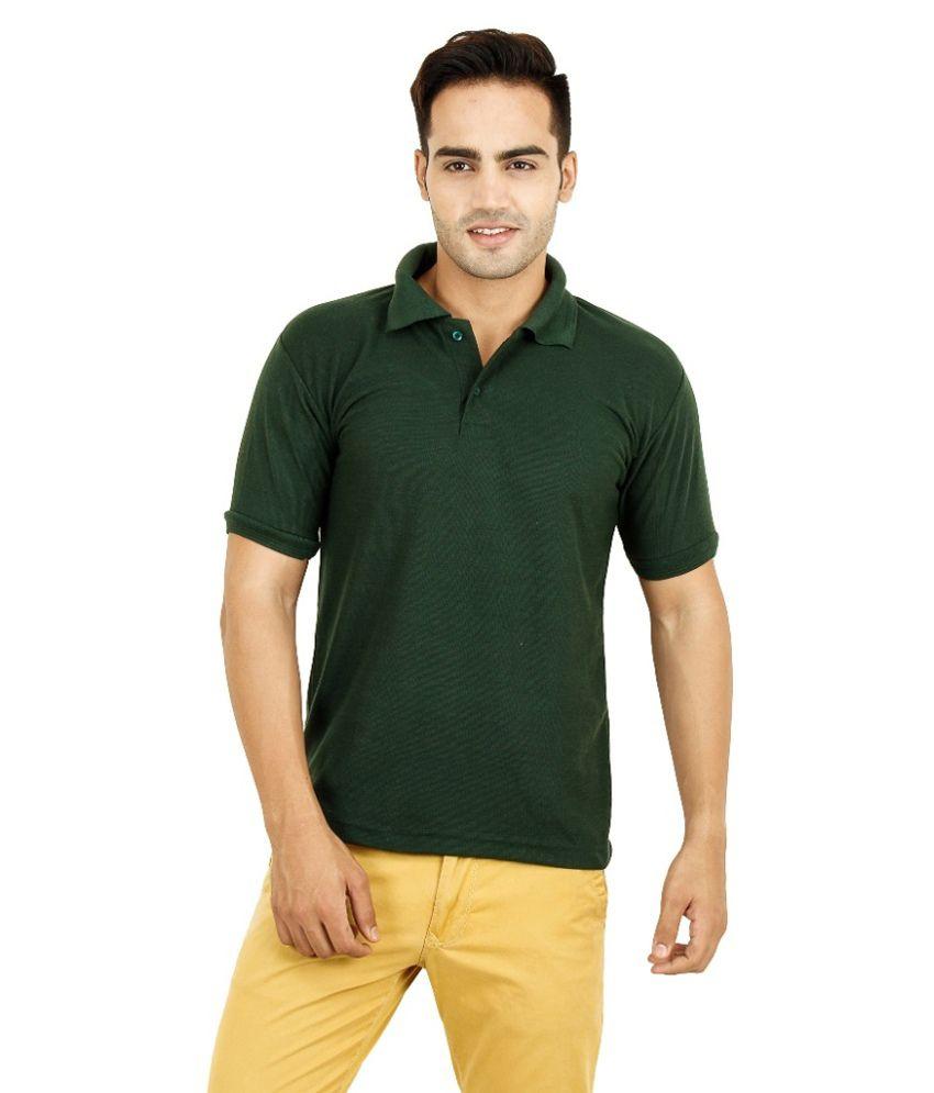 Henge Green Half Sleeves Wear Polo T-shirt