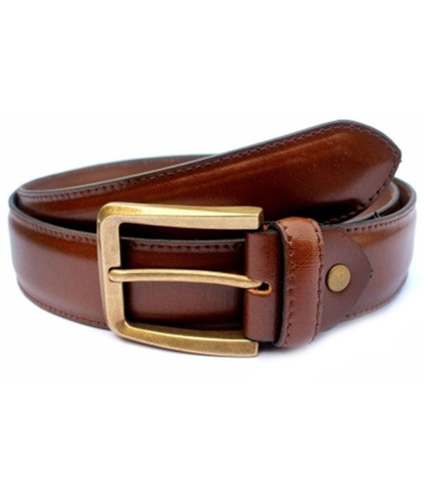 Mr Fashion Brown Casual Single Belt For Men