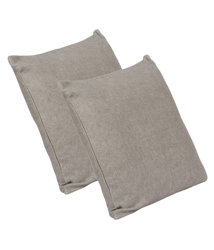 Home Matters Gray Cotton Cushion Cover