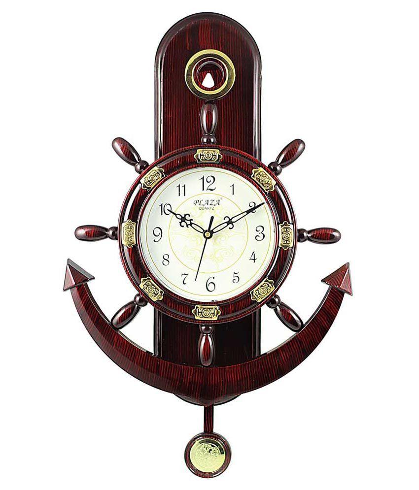Plaza Brown Anchor Pendulum Wall Clock Buy Plaza Brown