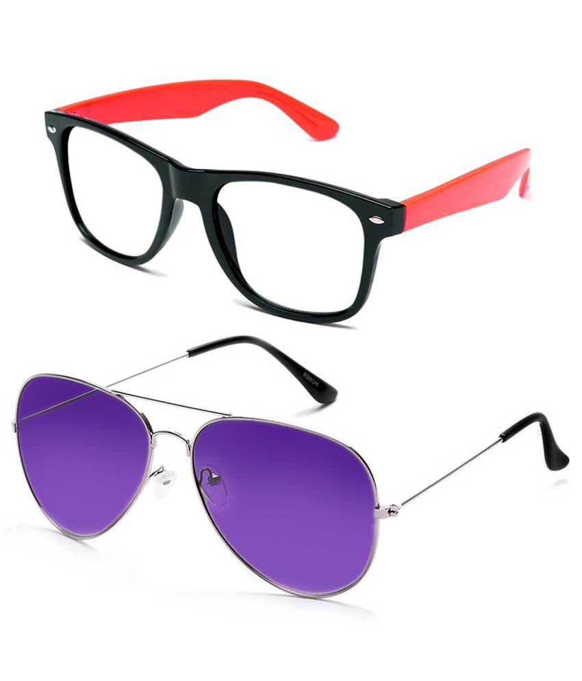 Shoaga sl6 Multicolor Wayfarer Sunglasses For Men