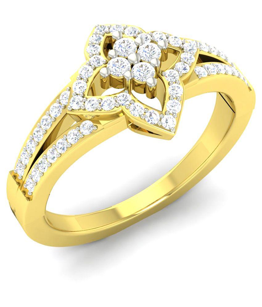 White Eros Yellow Gold 18Kt Diamond Ring