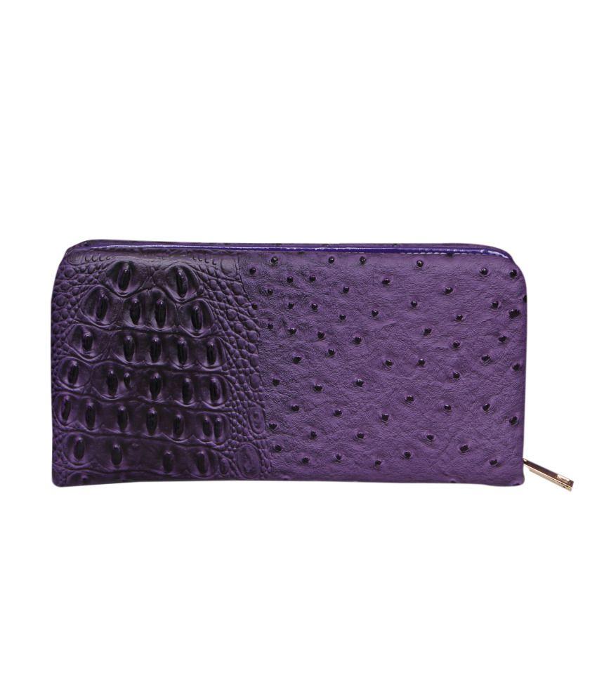 Naaz Bags Collection Purple Women Long Wallet