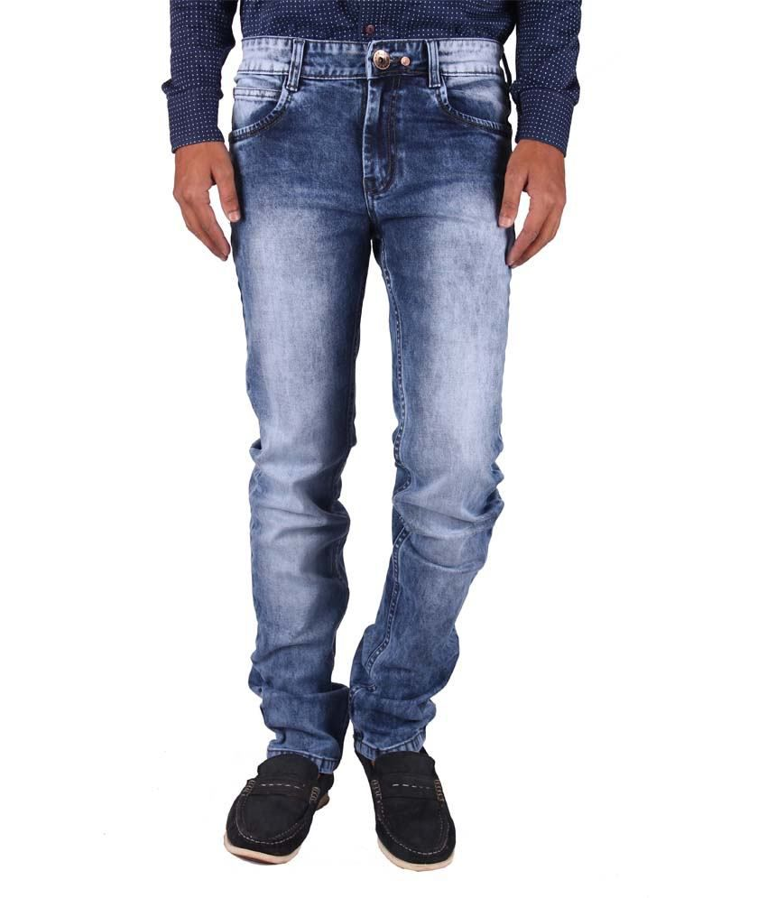 Gasconade Blue Slim Fitted Jeans For Men