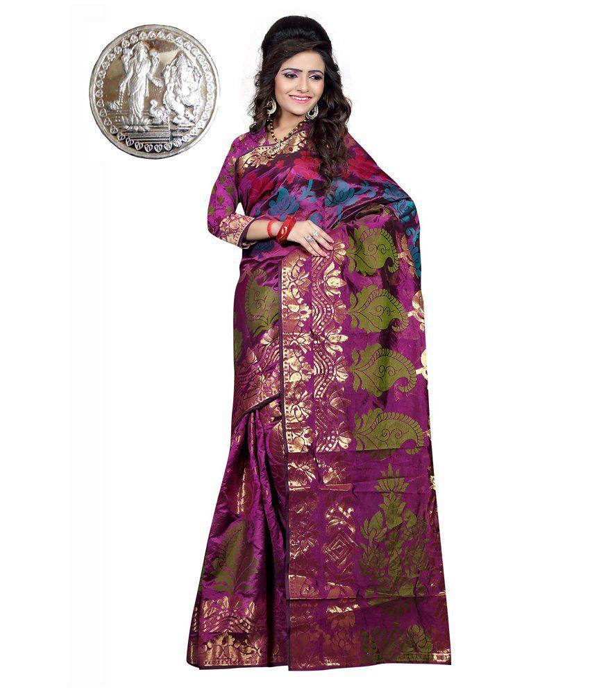 IndianEfashion Pink Banarasi Silk Sarees