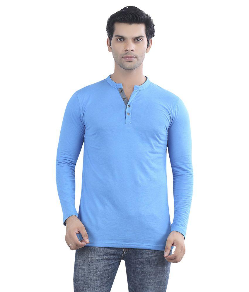 Maniac Blue Cotton T-shirt