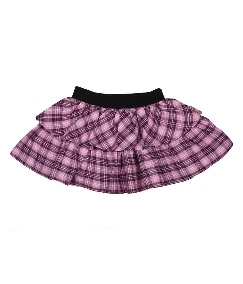 My Lil Berry Purple Cotton Skirt