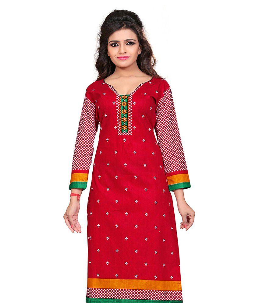 5cdab20d33 Nakoda Creation 100% Cotton Unstitched Kurti Dress Material - Buy ...