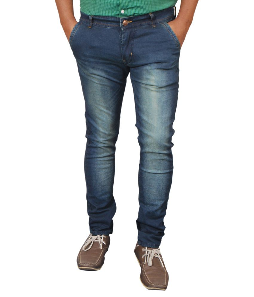 Paranoid Blue Cotton Blend Jeans