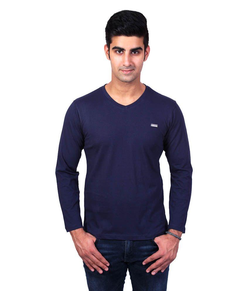 Bridge Navy Cotton T-Shirt