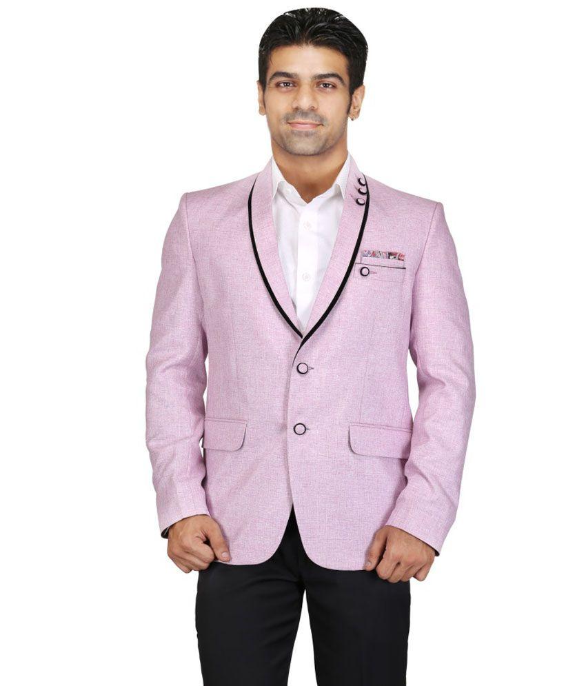 Chandhok Pink Casual Blazer