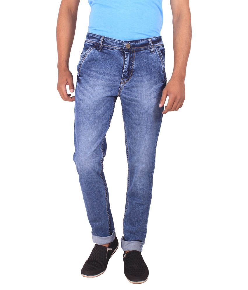 Dolon Blue Cotton Jeans