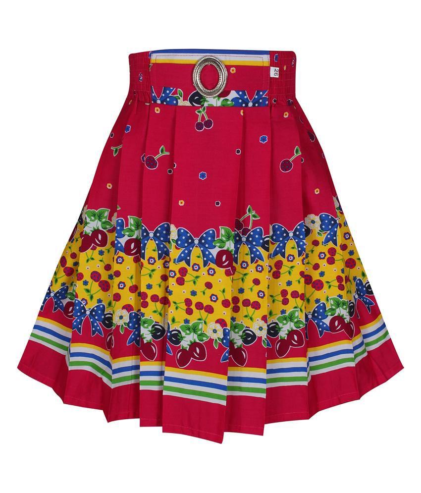 Jazzup Pink Cotton Skirt