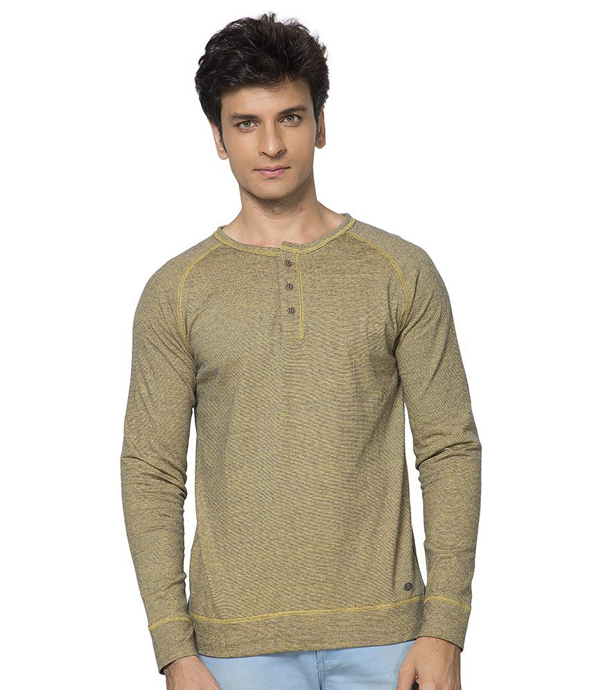 Maniac Beige Cotton T-shirt