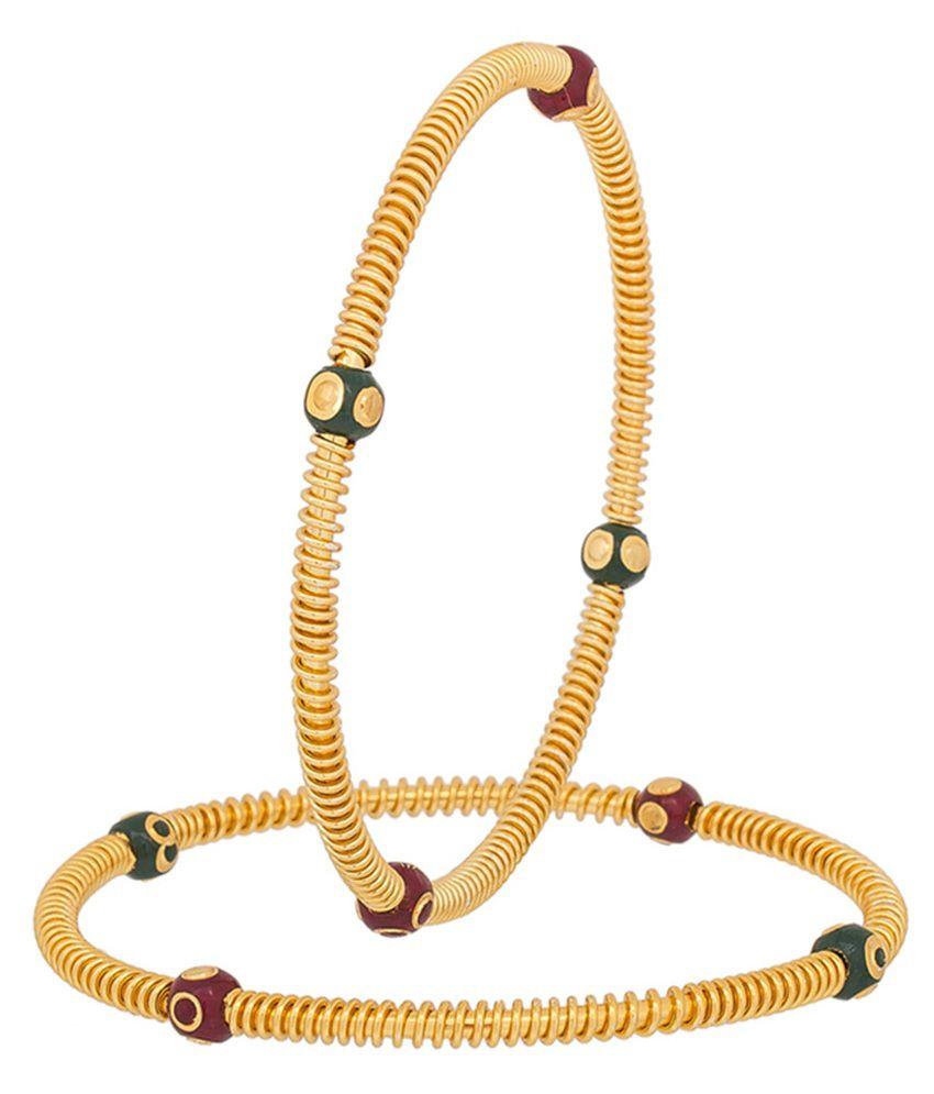 The Luxor Gold Plated Multicolour Alloy Bangle