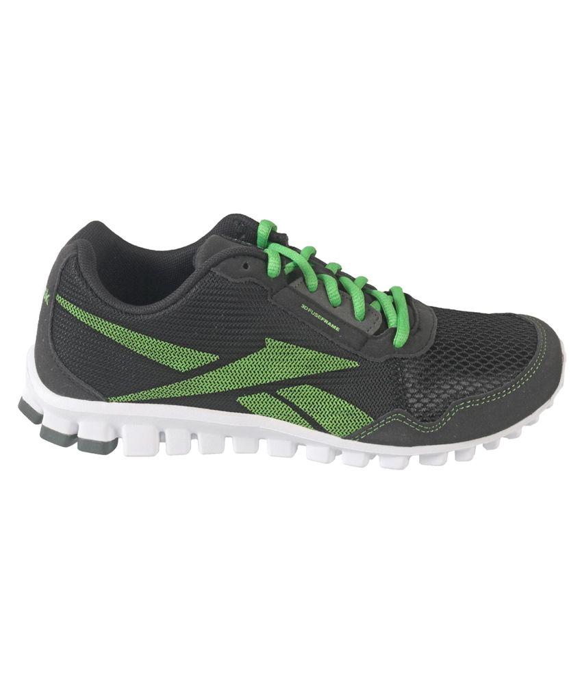 reebok trans sport lp black running shoes flipkart style