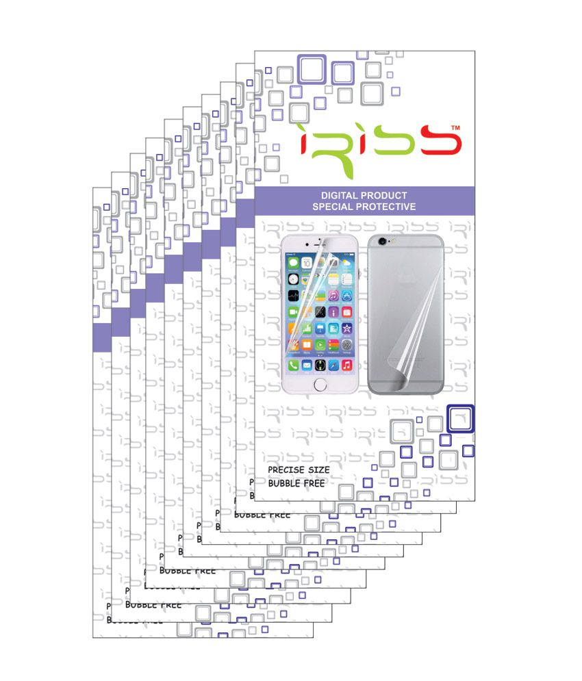 Black Barry Z10 - Pack of 10 Clear Screen Guard by Iriss