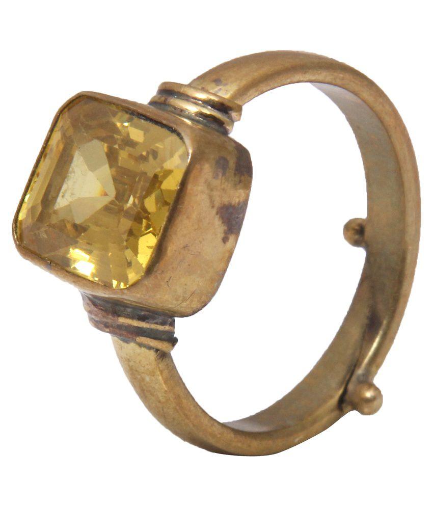 Jaipur Gems Coloured Stone Traditional 5 Dhatu Ring