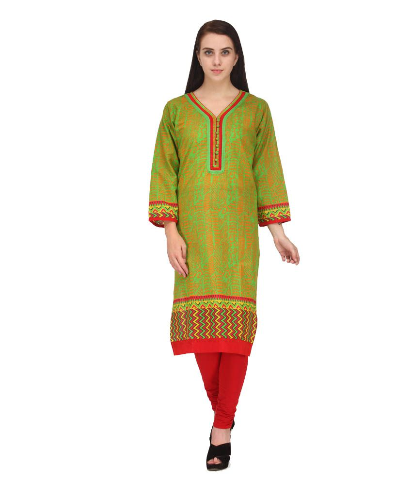 BPT Green Cotton Kurti