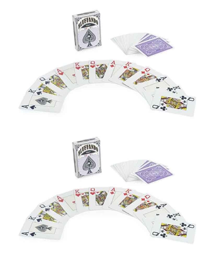 Bluffando Purple Texas Holdem Plastic Poker Playing Cards (Buy 1 Get 1 Free)