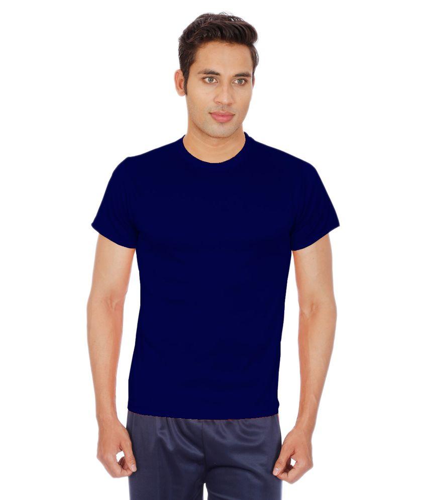 Sportee Navy Polyester T-Shirt