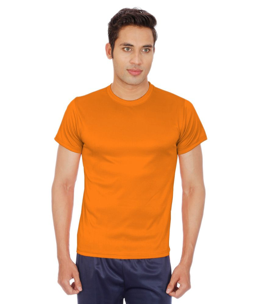 Sportee Orange Polyester T-Shirt
