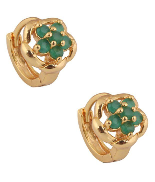 Supershine Jewelry Green Designer Wear Brass and Copper Ear Cuffs