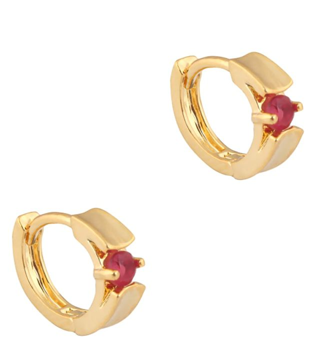 Supershine Jewelry Red Designer Wear Brass and Copper Ear Cuffs