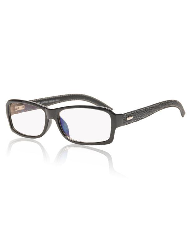 Vita Cool Black Leather Temple Optical Frame