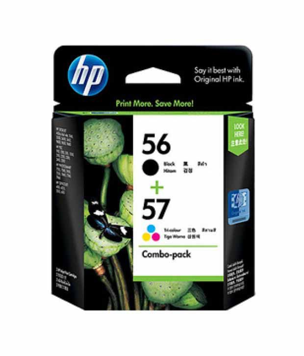 hp 56 57 combo pack ink cartridges cc629aa buy online at best price in india snapdeal. Black Bedroom Furniture Sets. Home Design Ideas