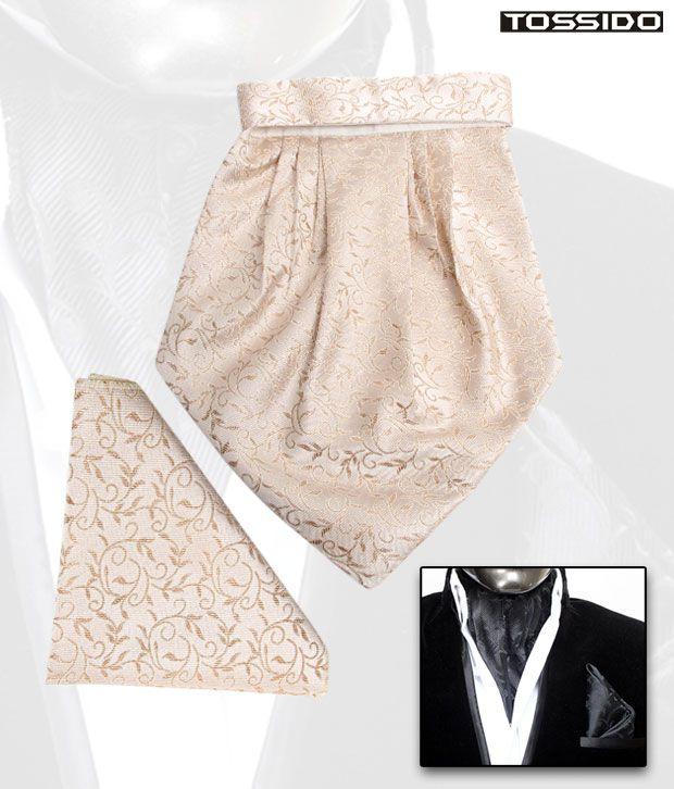 Tossido Golden Cravat & Square Pocket Set