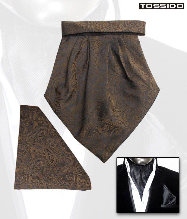 Tossido Green Cravat & Square Pocket Set