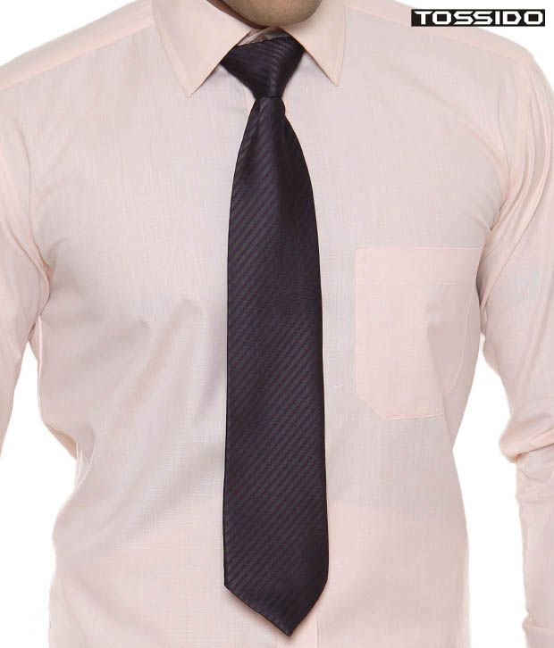 Tossido Striped Black & Purple Tie