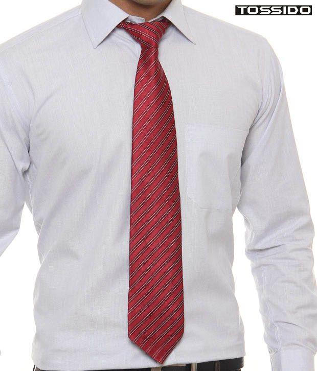 Tossido Ravishing Red Striped Tie