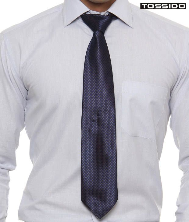 Tossido Glossy Blue Tie